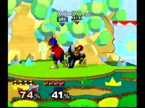 Aaron(Falcon) vs Andre(Falco) 1 - SSBM