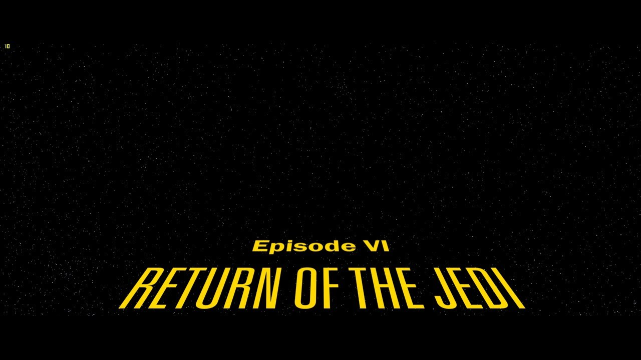 SW Return of the Jedi Opening Crawl 4K Recreation