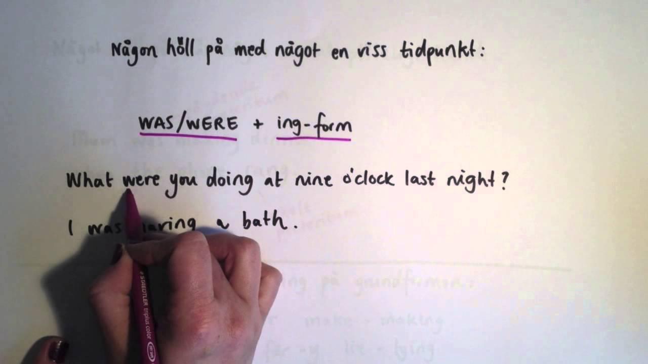 Enkel och pågående form på engelska