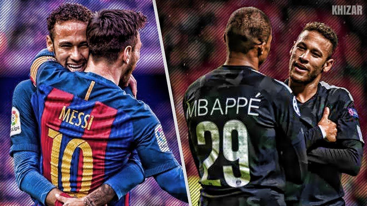 Neymar With Messi Vs Neymar With Mbappe Hd Youtube