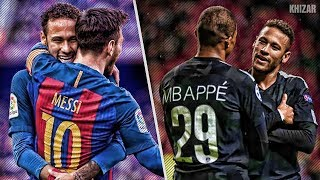 Neymar With Messi Vs Neymar With Mbappé | HD