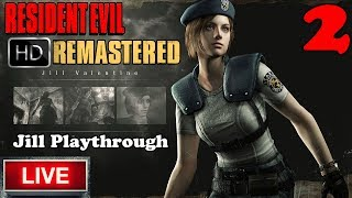 Resident Evil HD REMASTER Live Stream - Best Ending - Beautiful Zombies