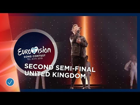 Michael Rice at the second Semi-Final of the  2019 Eurovision Song Contest