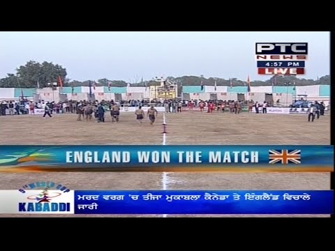 Canada vs England   Men's   Day 3   5th World Cup Kabaddi Punjab 2014