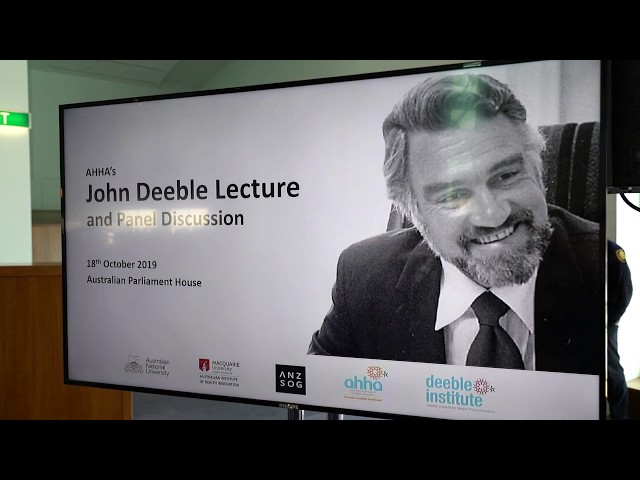The 2019 John Deeble Lecture and Panel Discussion