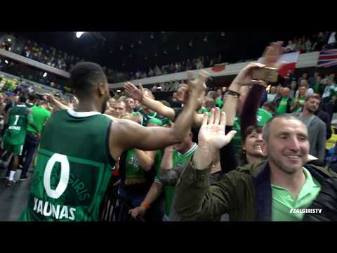 Zalgiris players thank fans for support in London