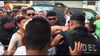 Agresión de policías de Neza en evento de motos a jóvenes