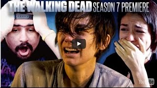 Reação dos fãs ao verem Abraham e Glenn sendo mortos em The Walking Dead S7E1