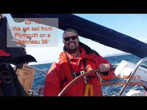 Ep 10. Atlantic pt2. We set sail aboard a Jeanneau Sun Odyssey 36i - Carl and Jenny