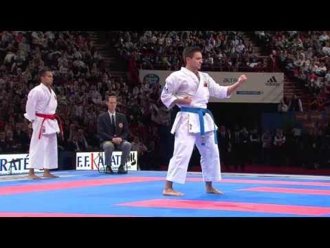 Final Male Kata. Antonio Diaz of Venezuela. 21st WKF World Karate Championships Paris 2012
