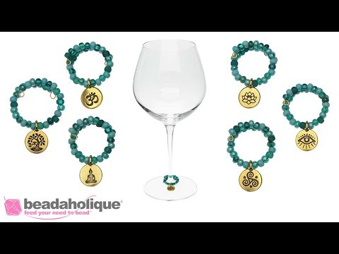How to Make Wine Charms with Memory Wire