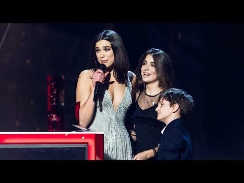 Dua Lipa reacts to winning two BRITs | The BRIT Awards 2018