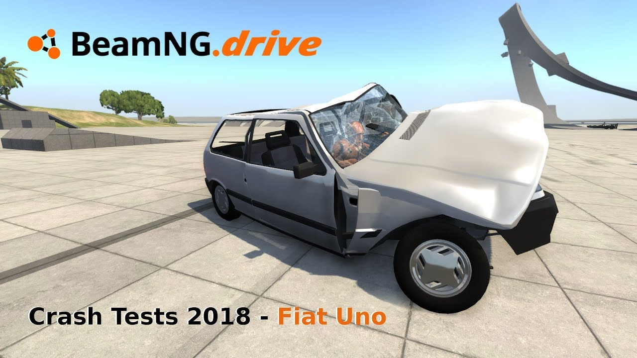 Onecrash Tests 2018 | Fiat Uno | Slow Motion | Beamng.Drive Gameplay ...