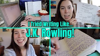 I TRIED WRITING LIKE J.K. ROWLING FOR 2 DAYS // a writing vlog