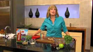 Amy Tobin Video Dole Turkey Sausage Kabobs With Arugula Salad