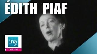 """Edith Piaf, """"Non, je ne regrette rien"""" (live) - Archive vidéo INA"""