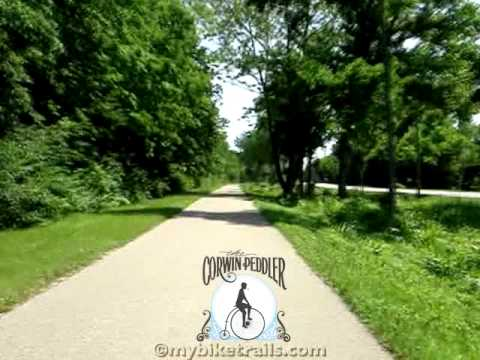 Little Miami Scenic Trail 2011 - North 8 - Ft. Ancient to Xenia, Ohio at 4x Speed