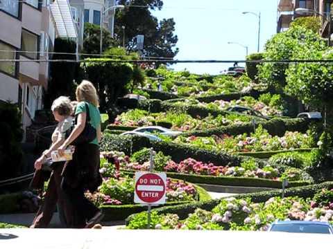 Lombard street de san francisco es la calle mas curvilinea for Calle el jardin