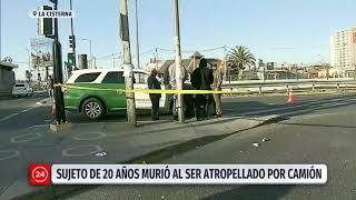 Sujeto de 20 años murió al ser atropellado por un camión