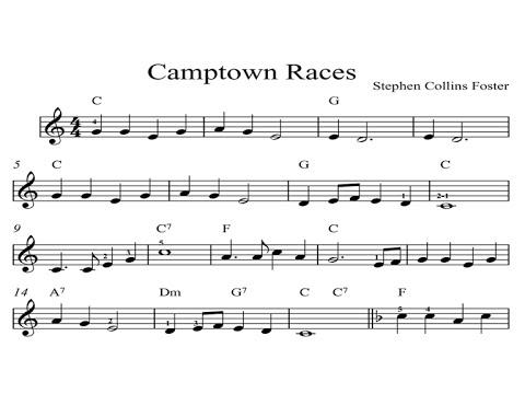 Camptown Races: KINDLE SHEET MUSIC Piano Organ & Keyboard: Book 4