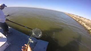 Fishing in Galveston Bay, Texas