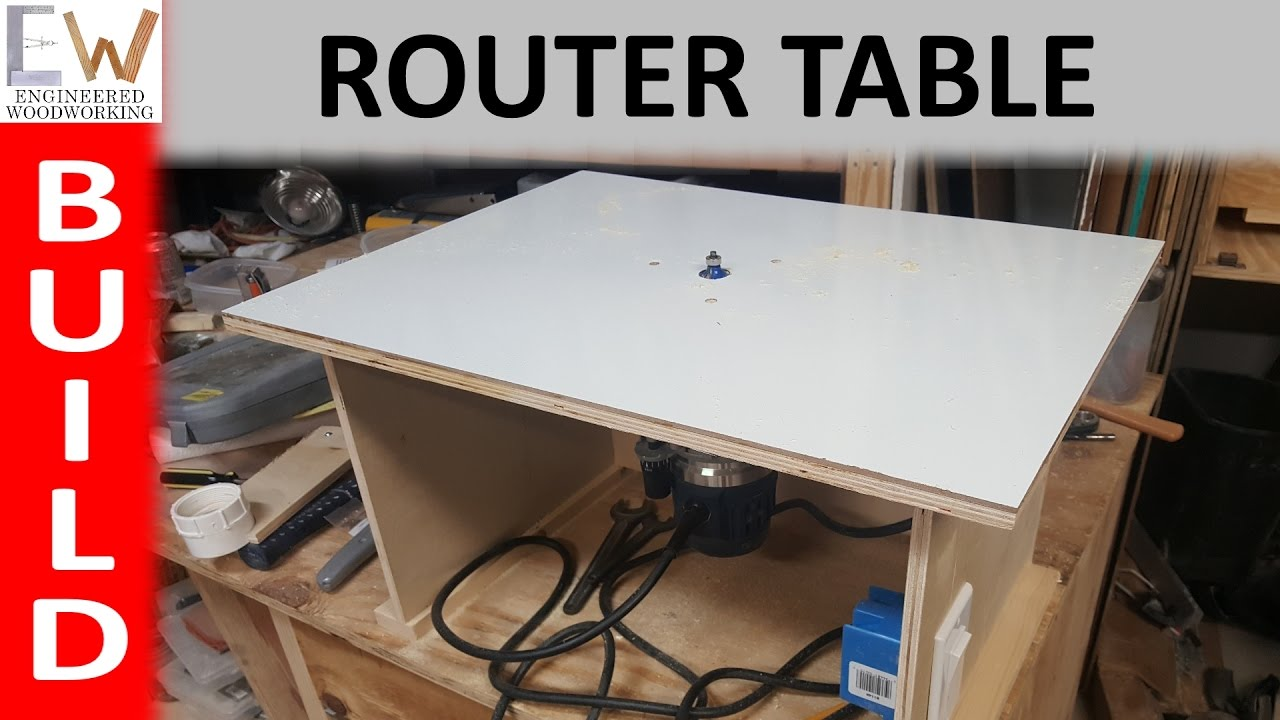 Router table under 20 diy youtube for How to make a router table
