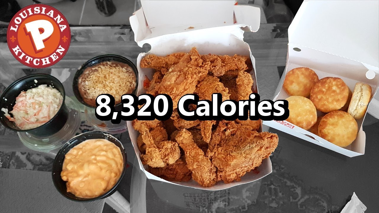 Popeyes 16pc Family Meal Challenge 8 000 Calories Youtube