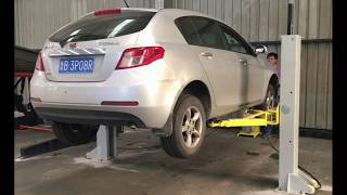 Movable Two Columns 2 Post Hydraulic Auto Smart Car Lift Vehicle Hoist for low garage