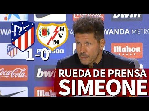Atlético de Madrid 1-0 Rayo Vallecano | Rueda de prensa de Simeone | Diario AS