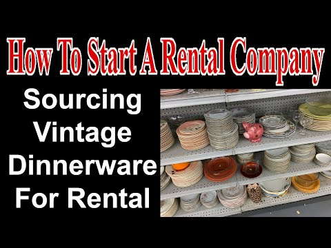 Sourcing Vintage Dinnerware For Rental - Start A Party Rental Company
