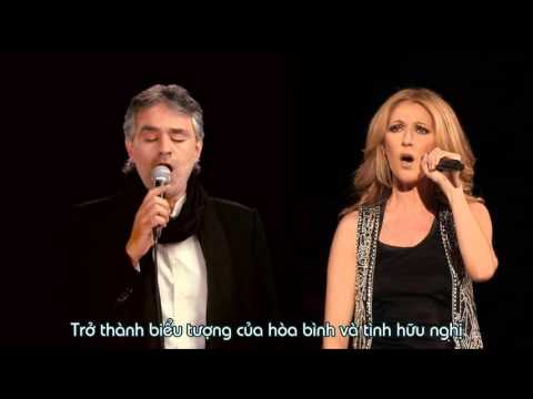 Vietsub The Prayer   Celine Dion ft Andrea Bocelli Boston 2008