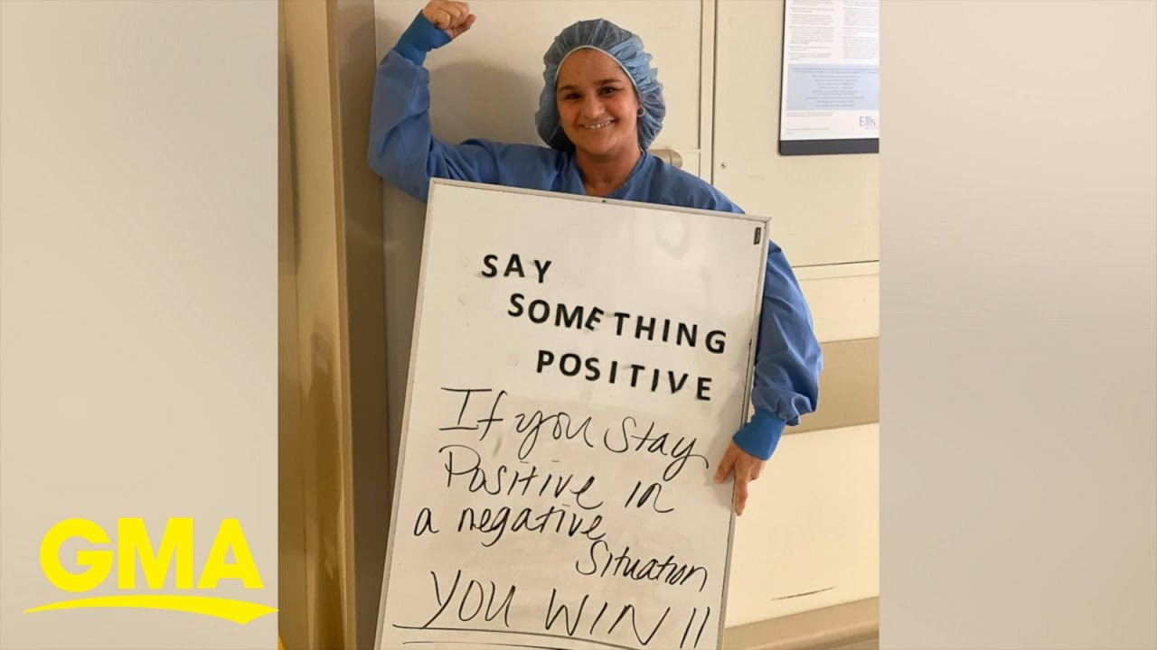 Hospital Staff Writes Inspiring Messages Of Hope For Covid 19 Patients L Gma Digital Youtube