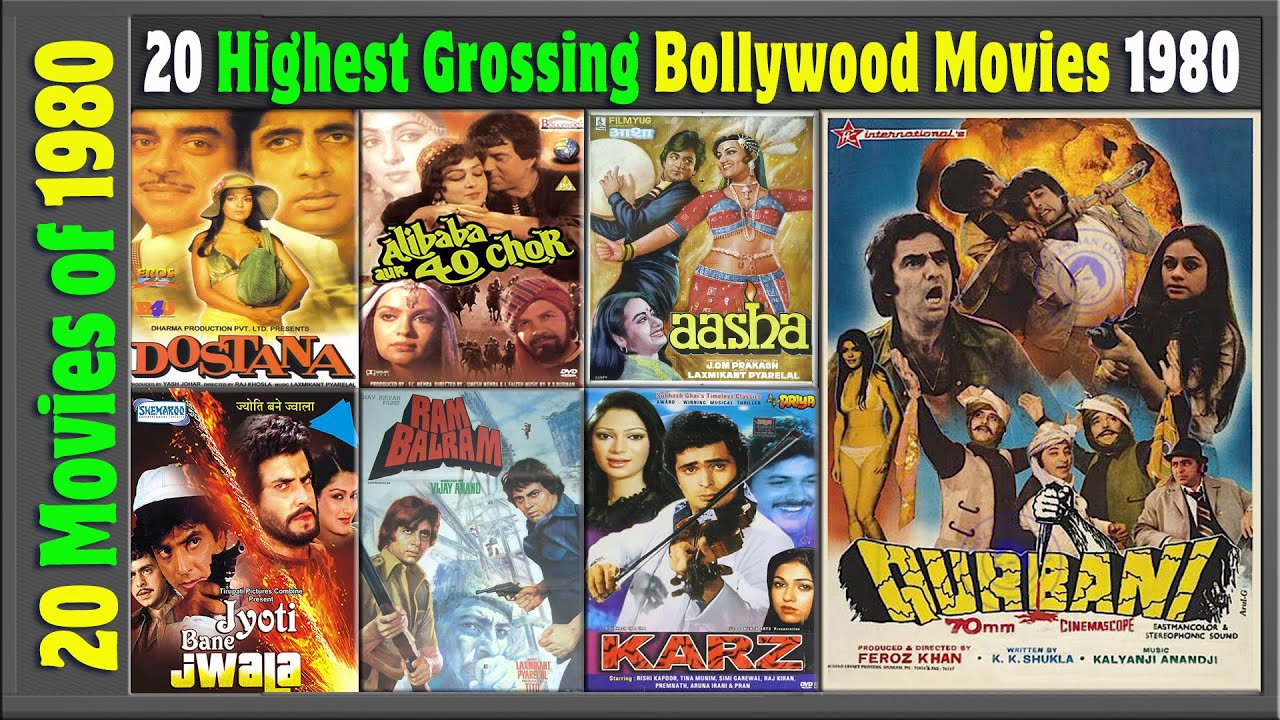 Top 20 Bollywood Movies Of 1980 | Hit or Flop | 1980 की ...