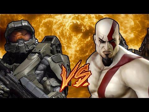 Master Chief vs. Kratos (RAP BATTLE)
