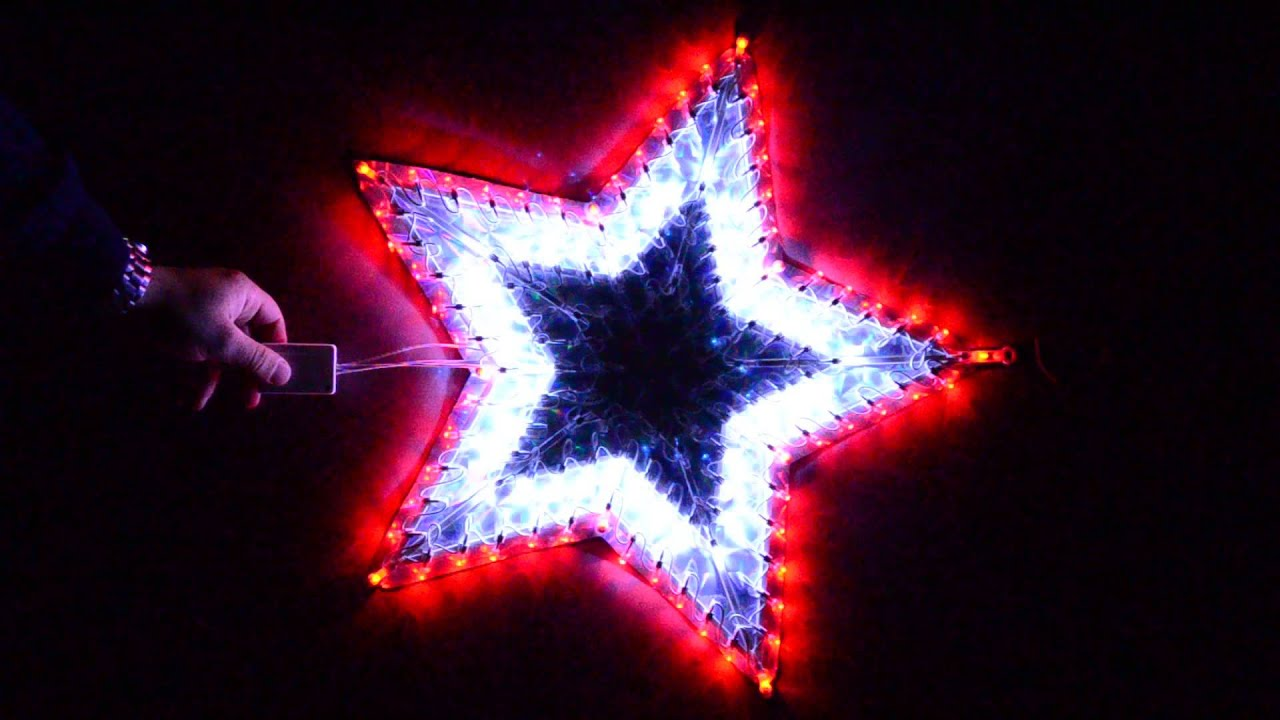 Estrella navidad multicolor de led 50cm 120 luces for Guirnaldas de luces para exterior