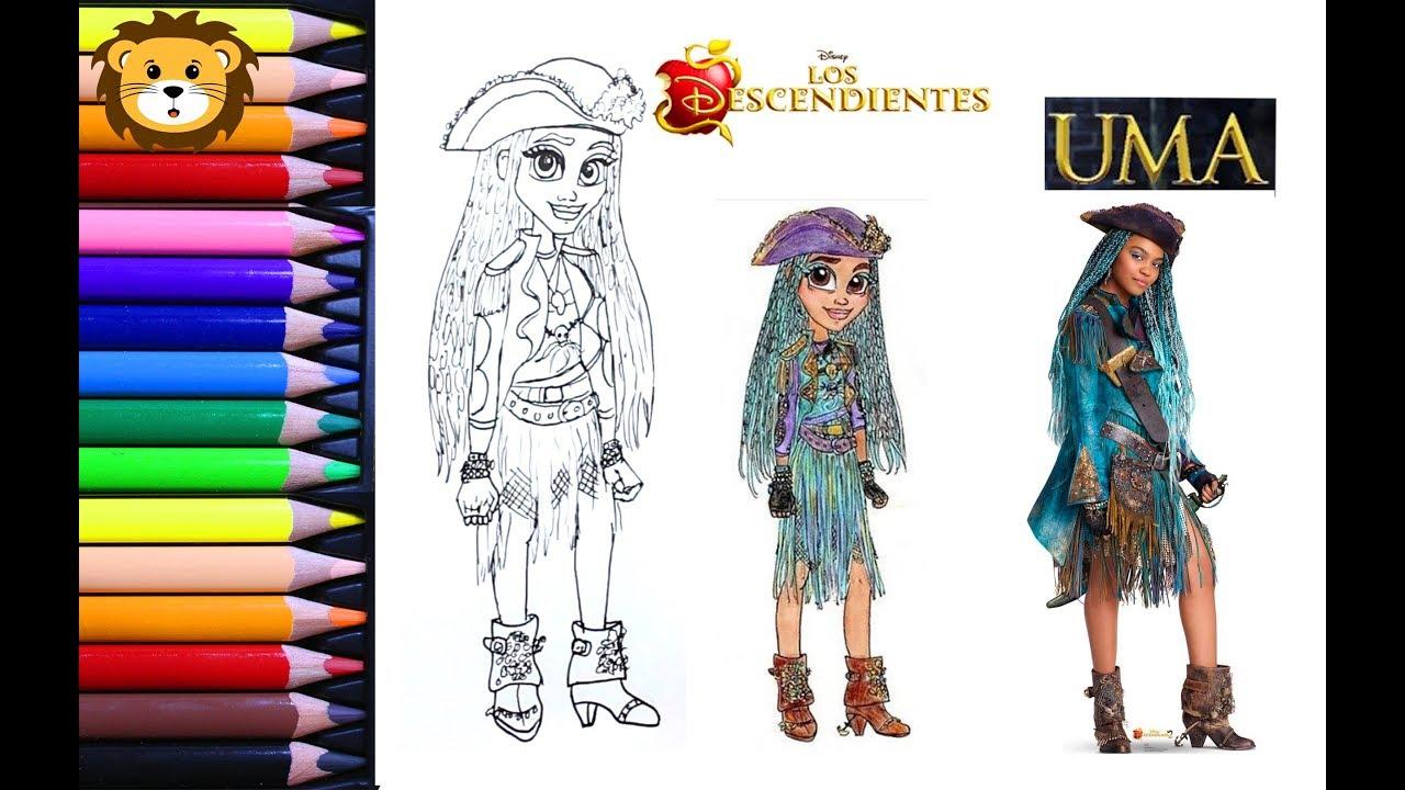 Como Dibujar Uma Descendientes 2 Disney Draw And Coloring Book For Kids