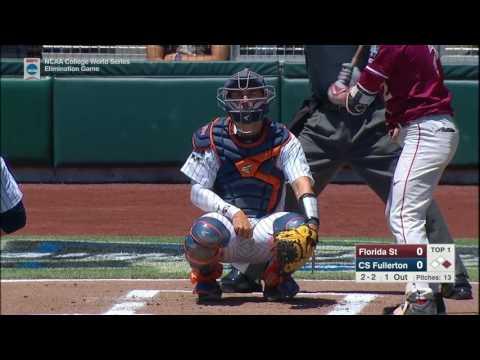 2017 NCAA CWS Baseball Florida State vs. Cal State Fullerton