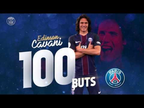 Edinson Cavani 100 Goles en el PSG