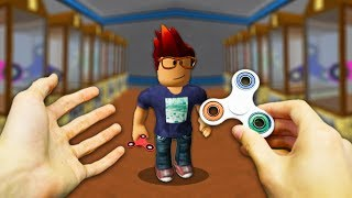 REALISTIC ROBLOX - ROBLOX PLAYER GETS A FIDGET SPINNER!⚡�