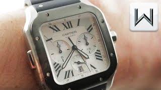 2019 Cartier Santos de Cartier Chronograph (WSSA0017) Luxury Watch Review