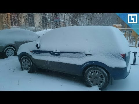 Тюмень завалило снегом