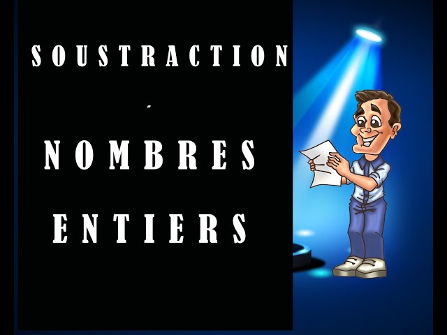 Soustraction de nombres entiers - cours et exercices de maths.