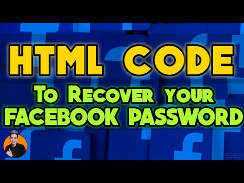 HTML CODE TO RECOVER YOUR FACEBOOK PASSWORD | HTML CODE FOR FACEBOOK