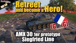 WoT: AMX 30 1er prototype, Siegfried Line, 6.8k dmg, 8 kills, WORLD OF TANKS