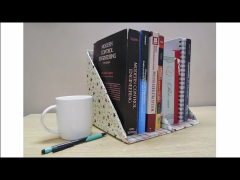 DIY cardboard book 📚shelf Cardboard craft Book organizer  Art, Craft and Health