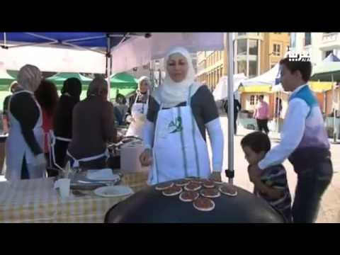 Syria refugee women hold food fair in Beirut