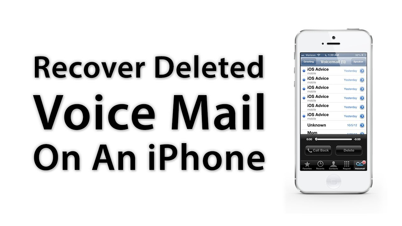 [ios Advice] How To Recover Deleted Voice Mail On An Iphone