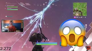 MISSILE HIT ANARCHY & MADE AN AURA *LIVE FOOTAGE* (Fortnite Battle Royale Season 5)