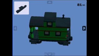 lego train green caboose