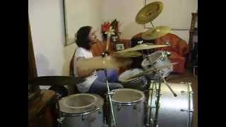 LED ZEPPELIN....LIVIN LOVIN MAID SHE JUST A WOMAN....DRUM COVER.